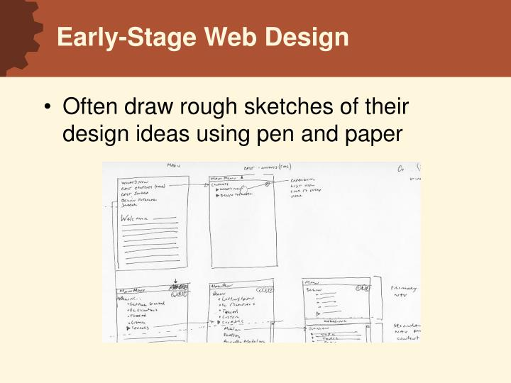 Early stage web design