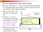 device optimization and carrier losses