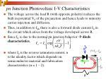 pn junction photovoltaic i v characteristics30