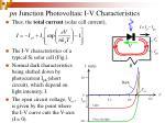 pn junction photovoltaic i v characteristics31