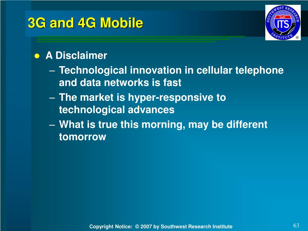 3G and 4G Mobile