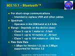 802 15 1 bluetooth