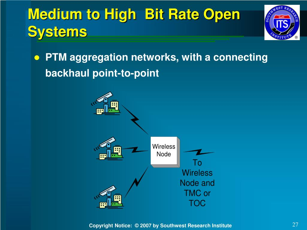 Medium to High  Bit Rate Open Systems