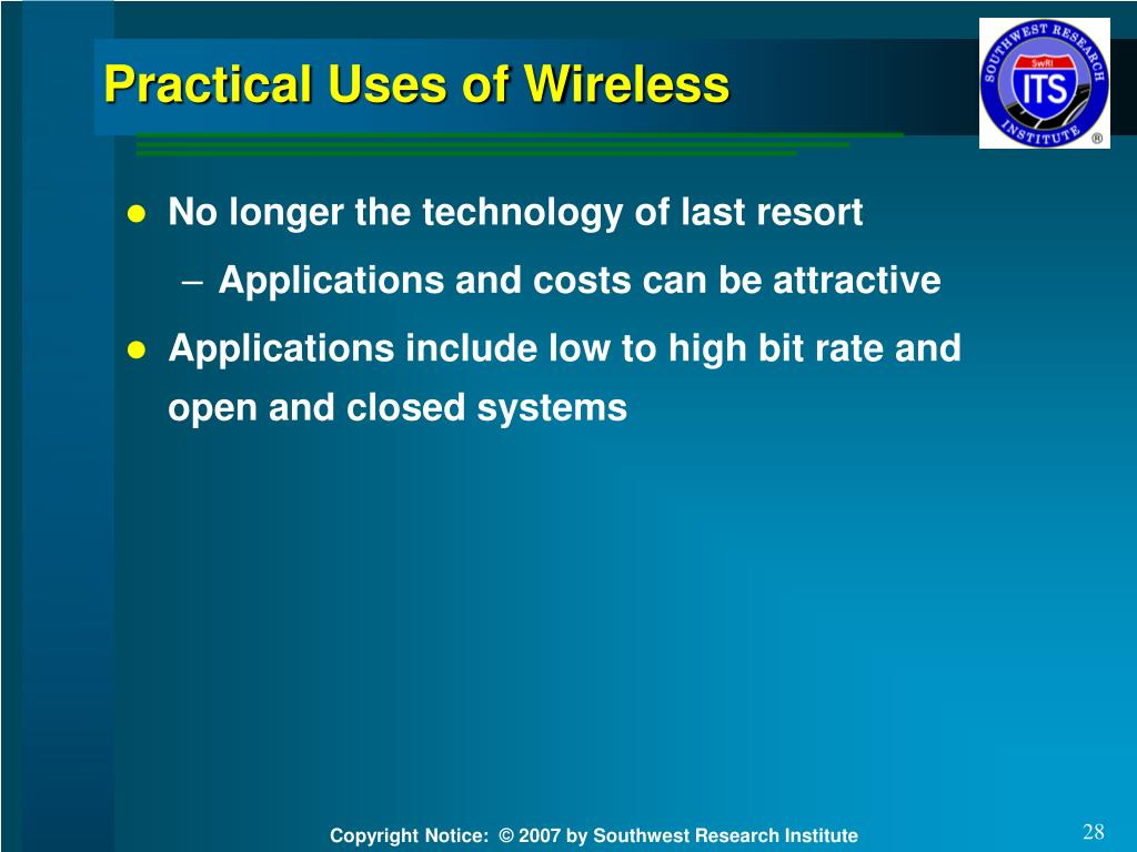Practical Uses of Wireless