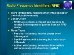 radio frequency identifiers rfid