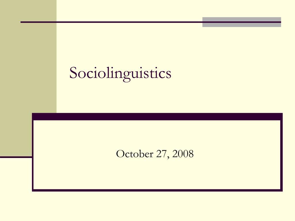 sociolinguistics l.