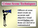 crime scene techniques20