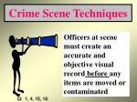crime scene techniques21
