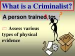 what is a criminalist16
