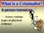 what is a criminalist17
