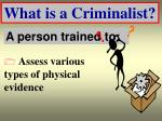 what is a criminalist18