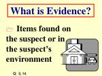 what is evidence14