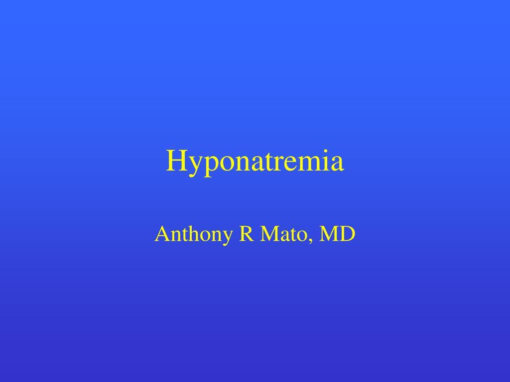 hyponatremia l.