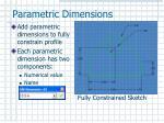parametric dimensions