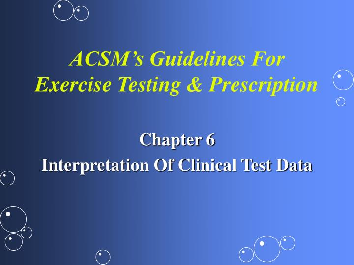 acsm s guidelines for exercise testing prescription n.
