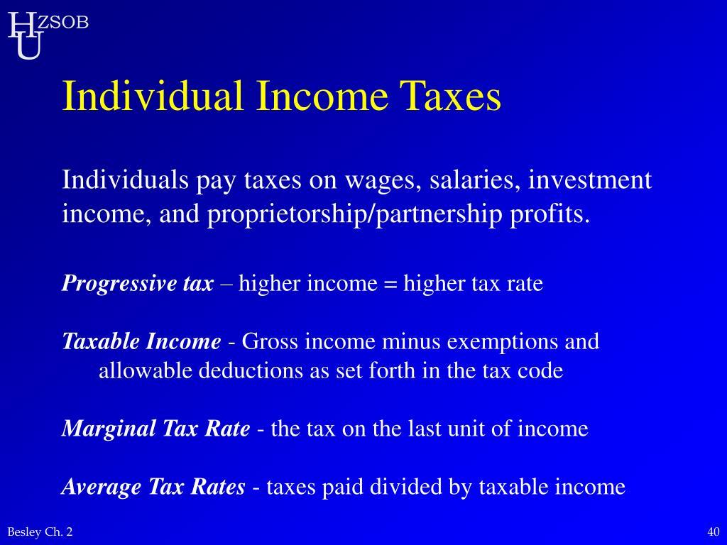 Individual Income Taxes