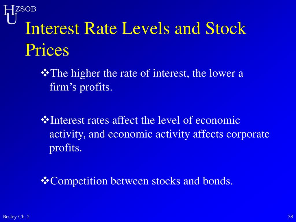Interest Rate Levels and Stock Prices