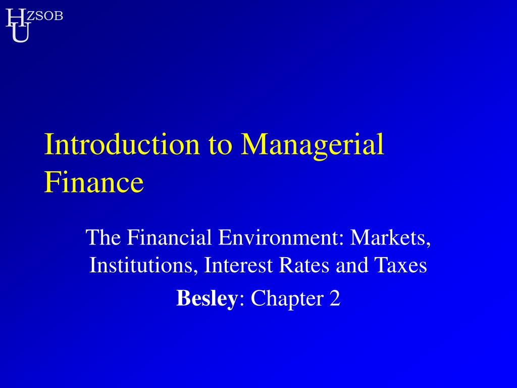 introduction to managerial finance l.