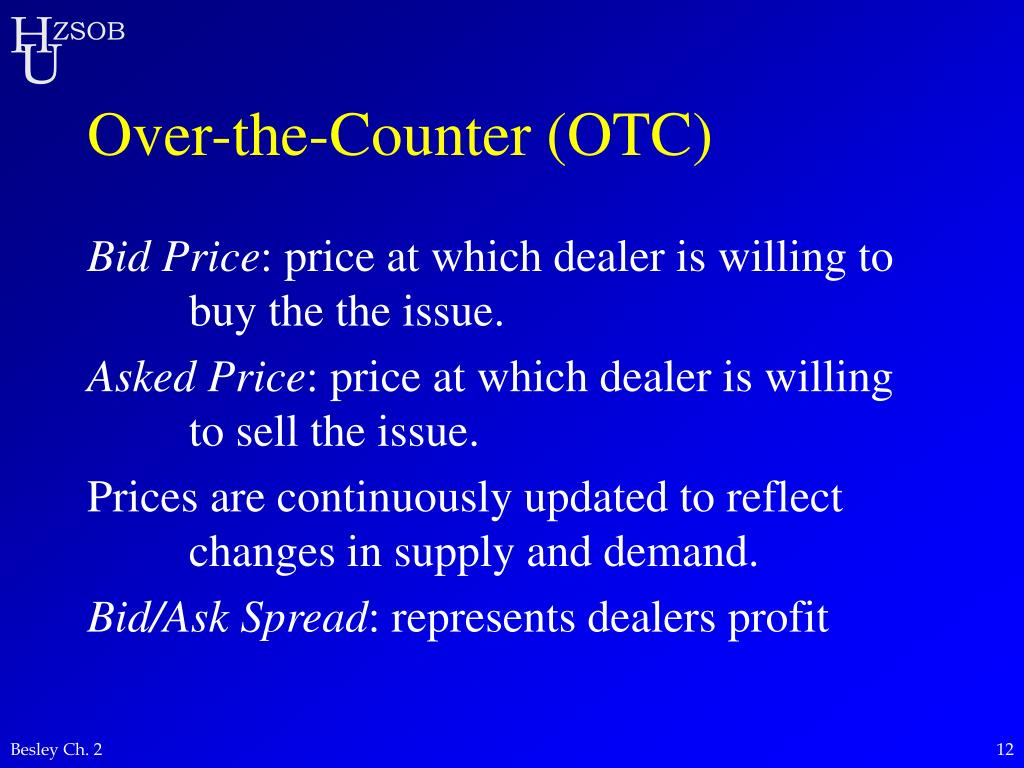 Over-the-Counter (OTC)