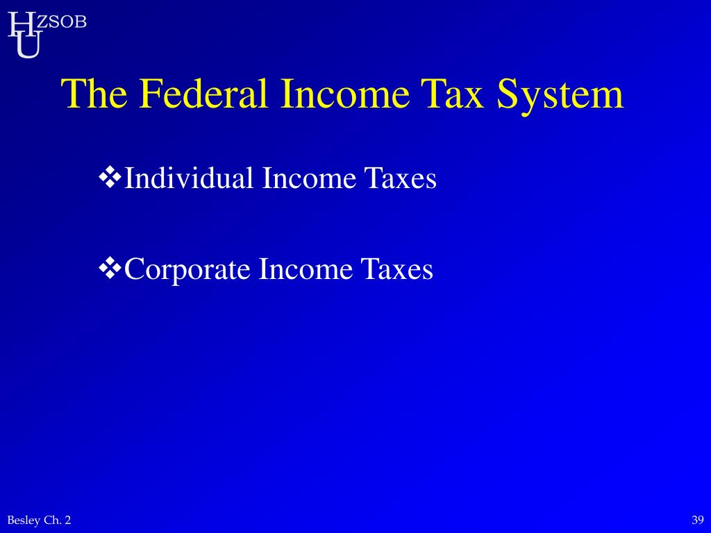 The Federal Income Tax System