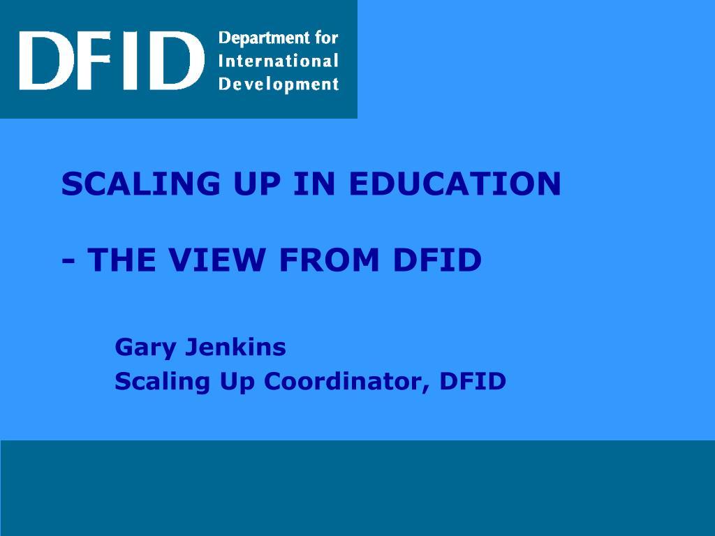 gary jenkins scaling up coordinator dfid l.