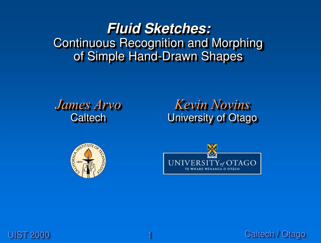 fluid sketches continuous recognition and morphing of simple hand drawn shapes l.