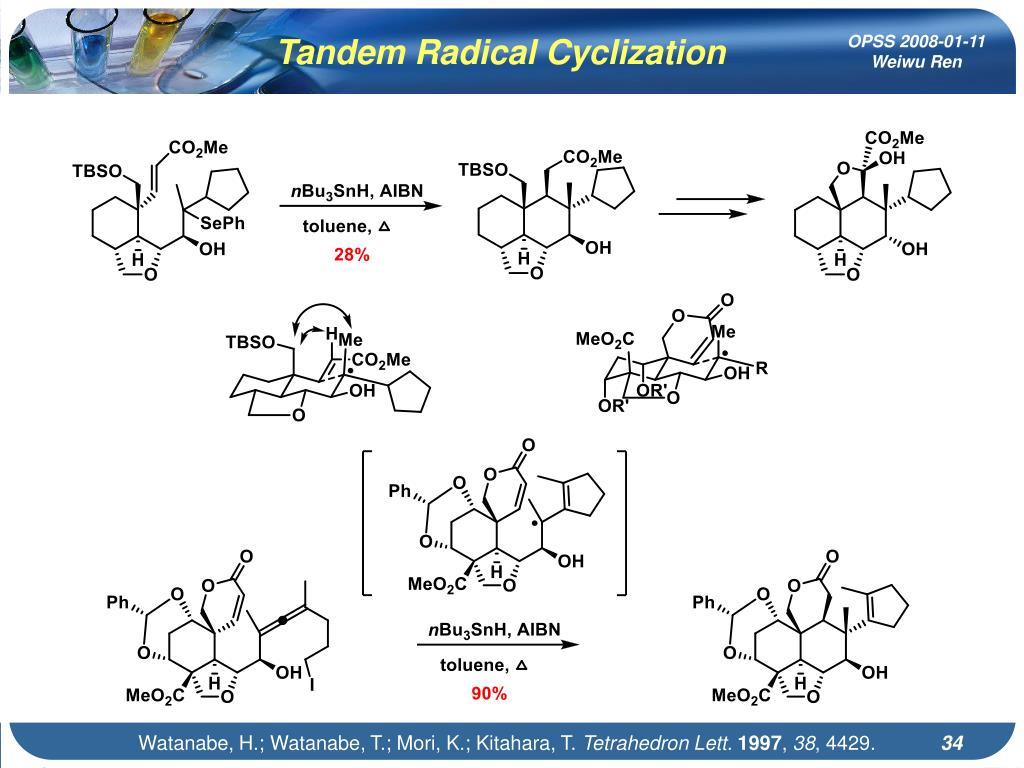 Tandem Radical Cyclization
