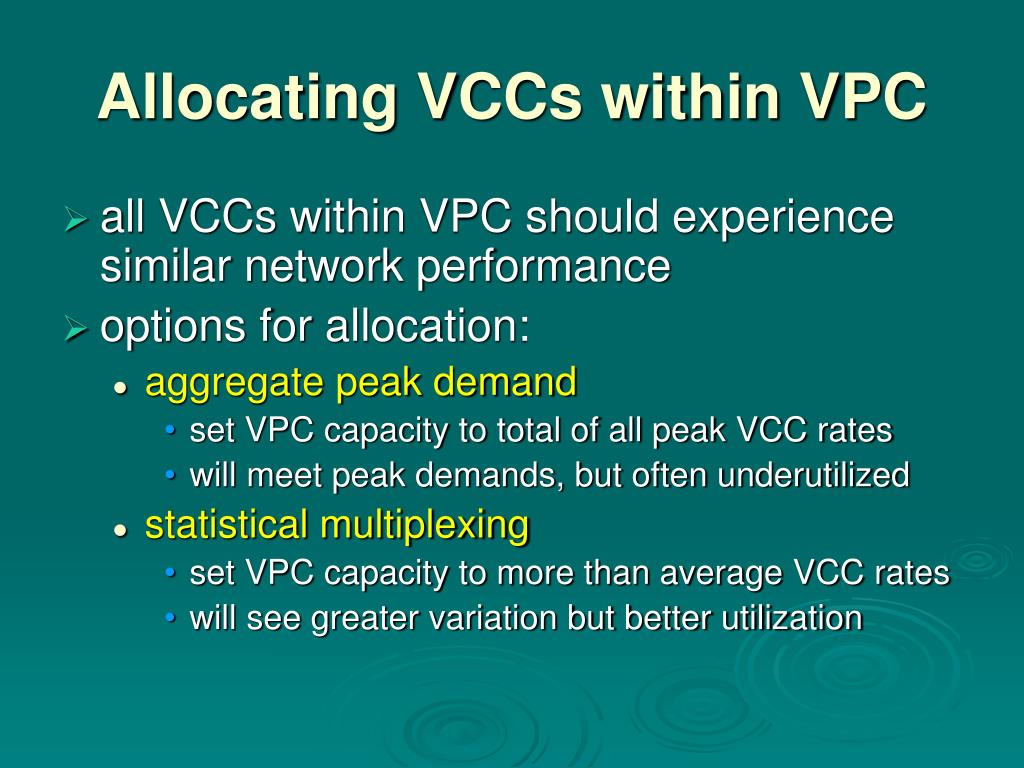 Allocating VCCs within VPC