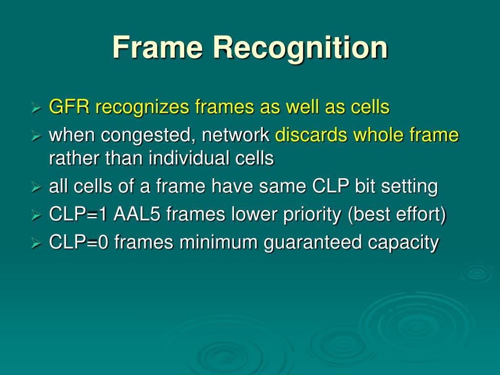 Frame Recognition