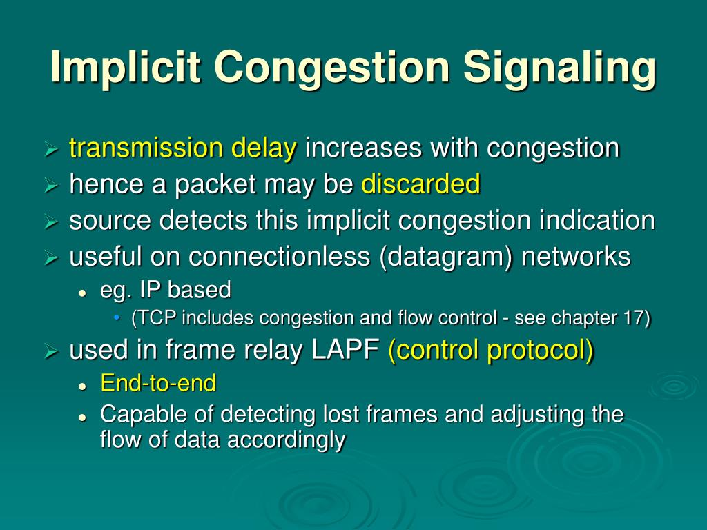 Implicit Congestion Signaling