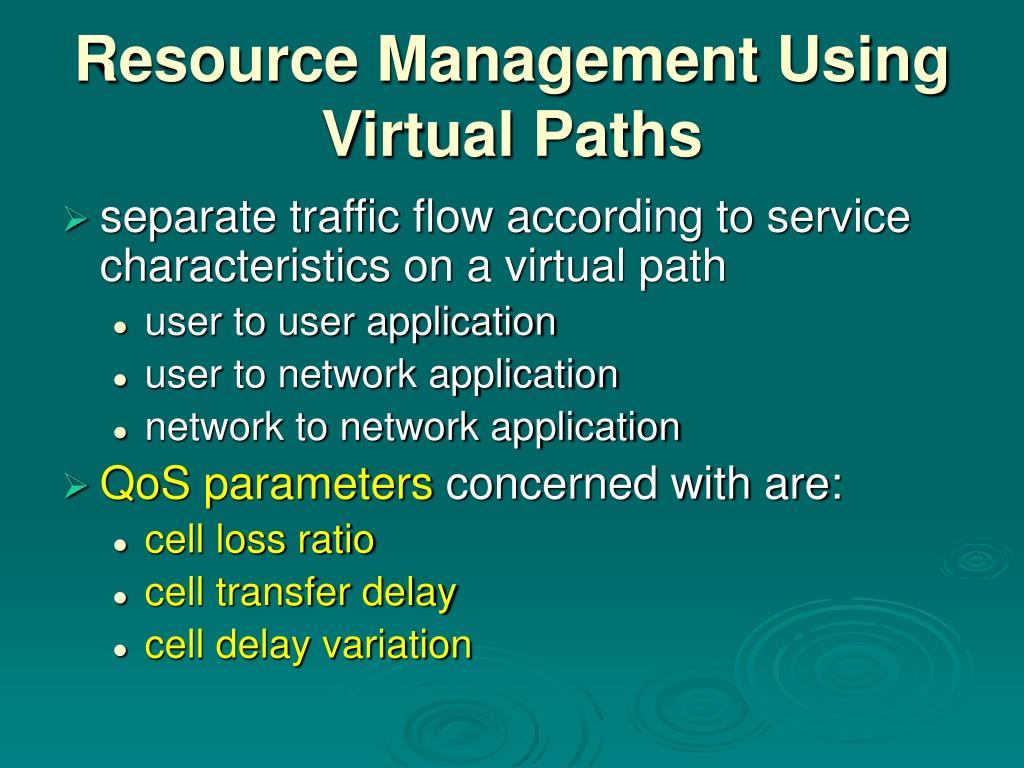 Resource Management Using Virtual Paths