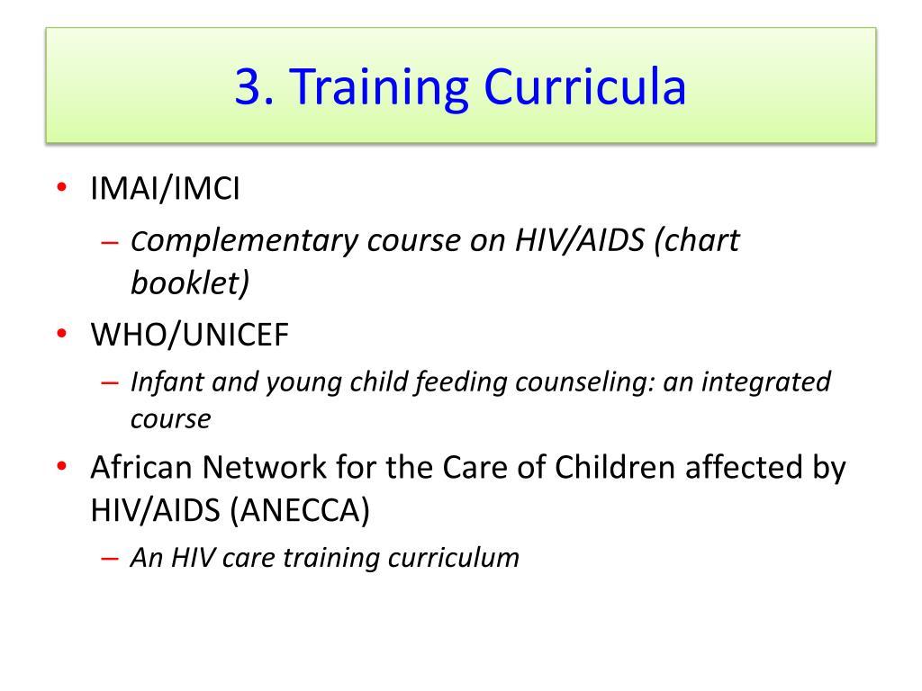 3. Training Curricula