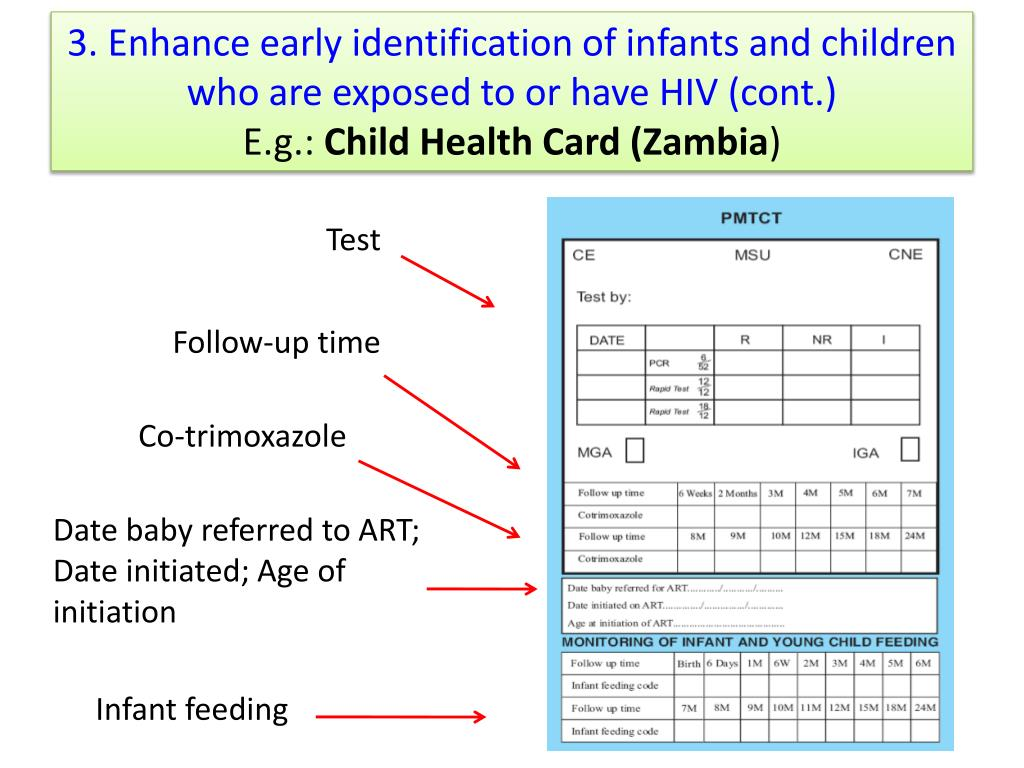 3. Enhance early identification of infants and children who are exposed to or have HIV (cont.)