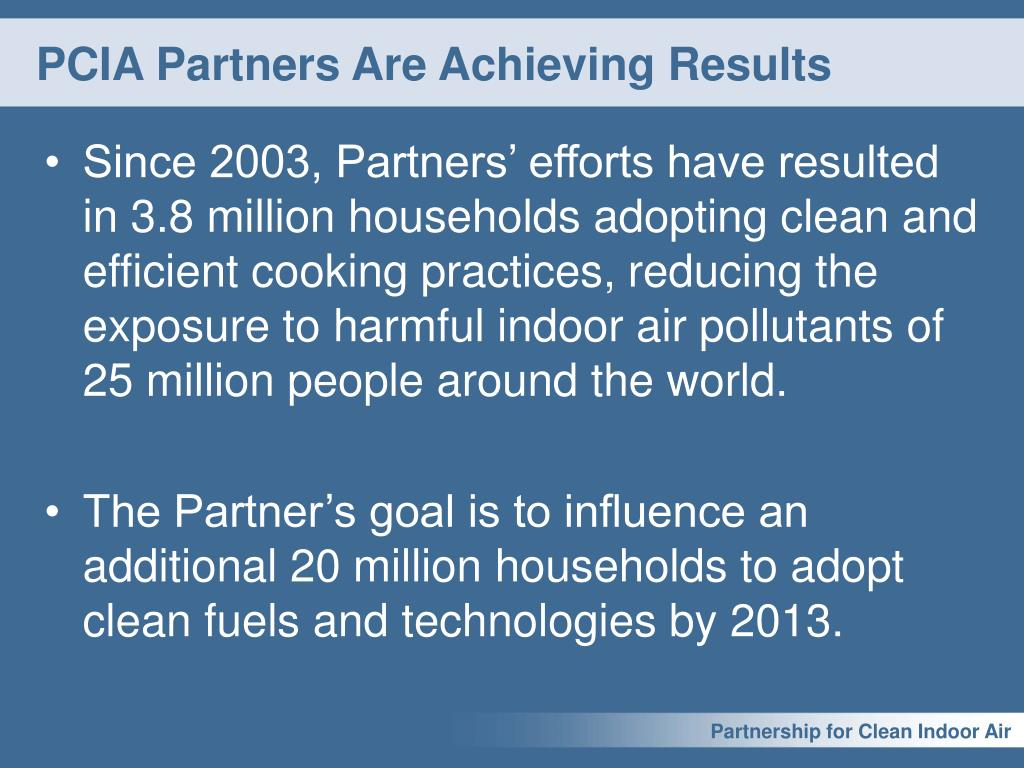 PCIA Partners Are Achieving Results