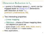 dimension reduction in l 2