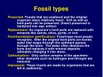 fossil types