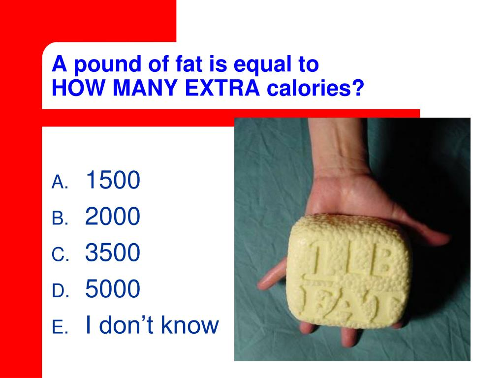 A pound of fat is equal to