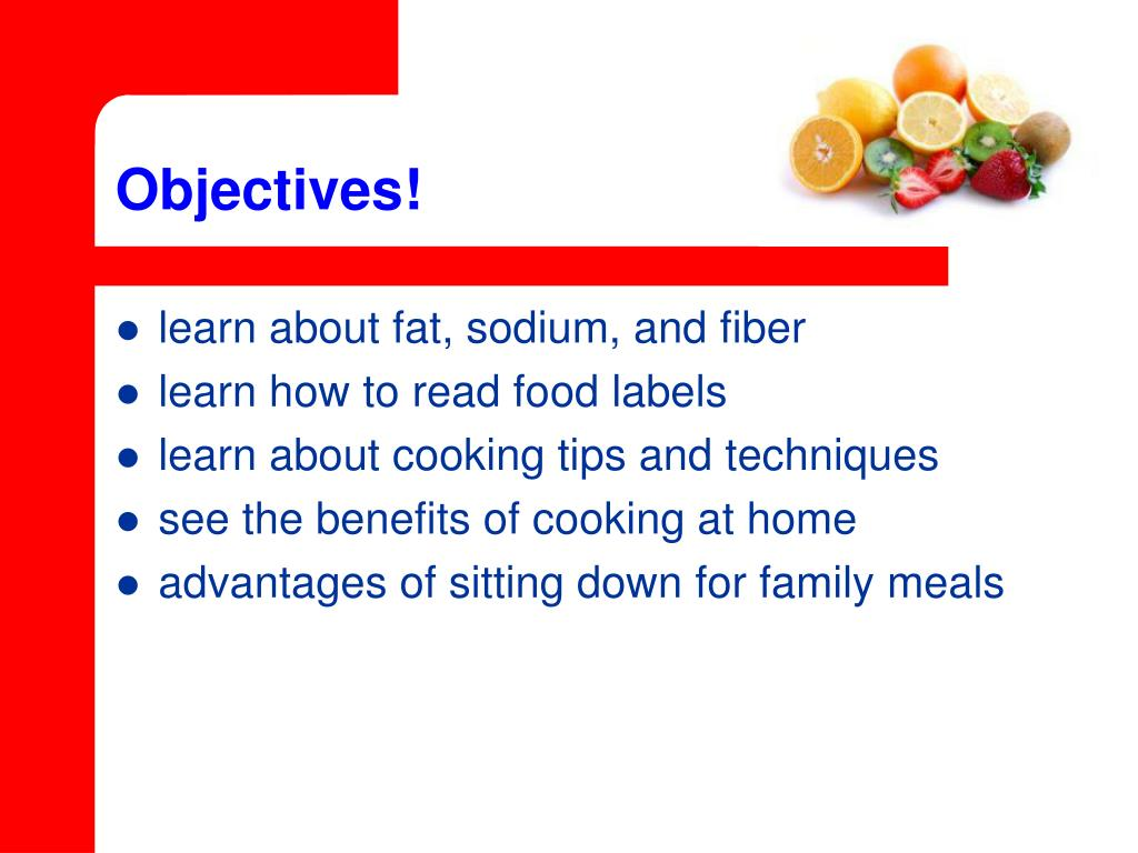 Objectives!