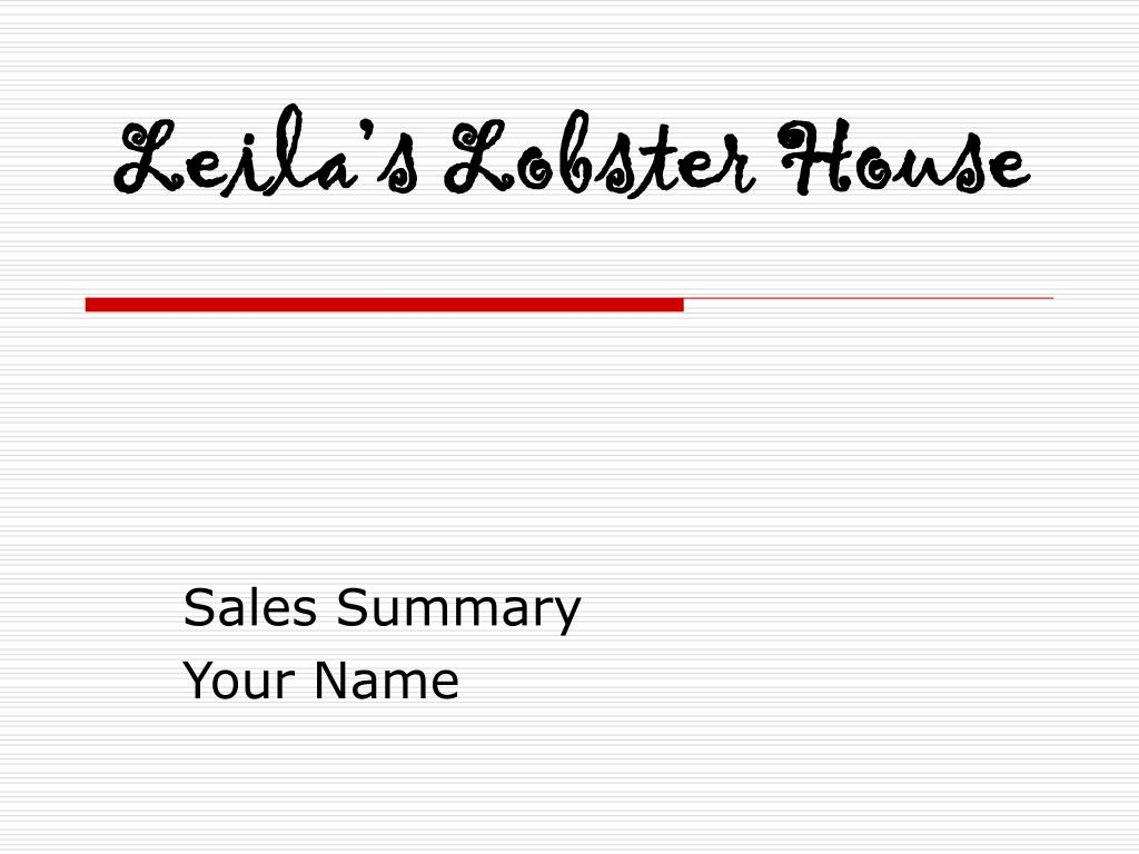 leila s lobster house l.