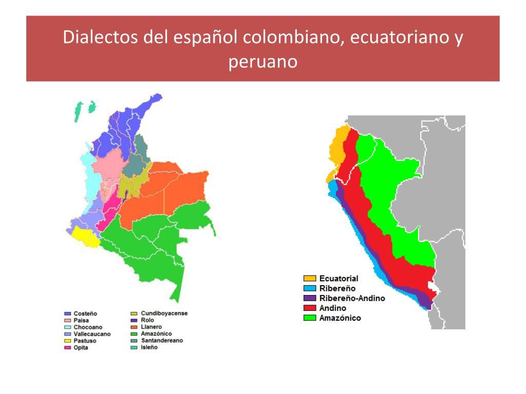 Dialectos del español colombiano, ecuatoriano y peruano