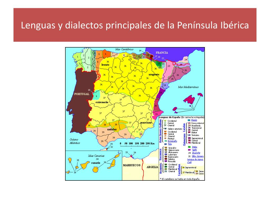 Lenguas y dialectos principales de la Península Ibérica