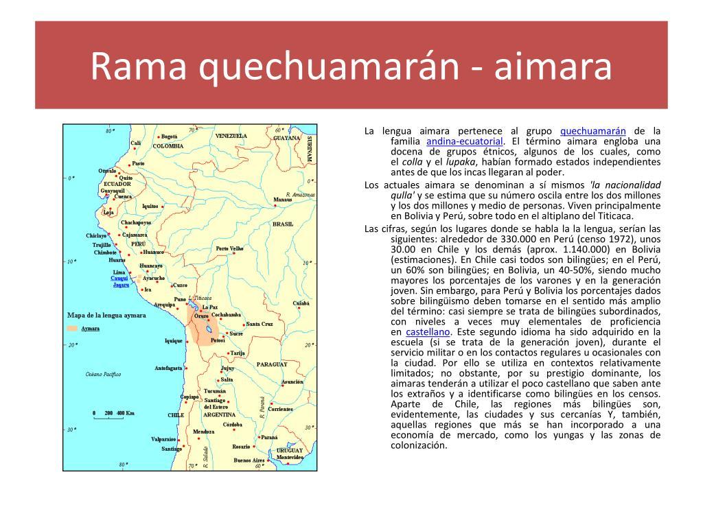 Rama quechuamarán - aimara
