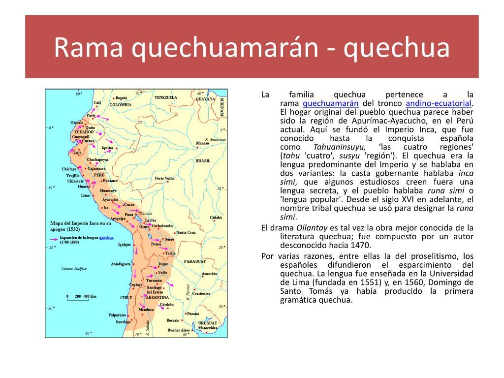 Rama quechuamarán - quechua