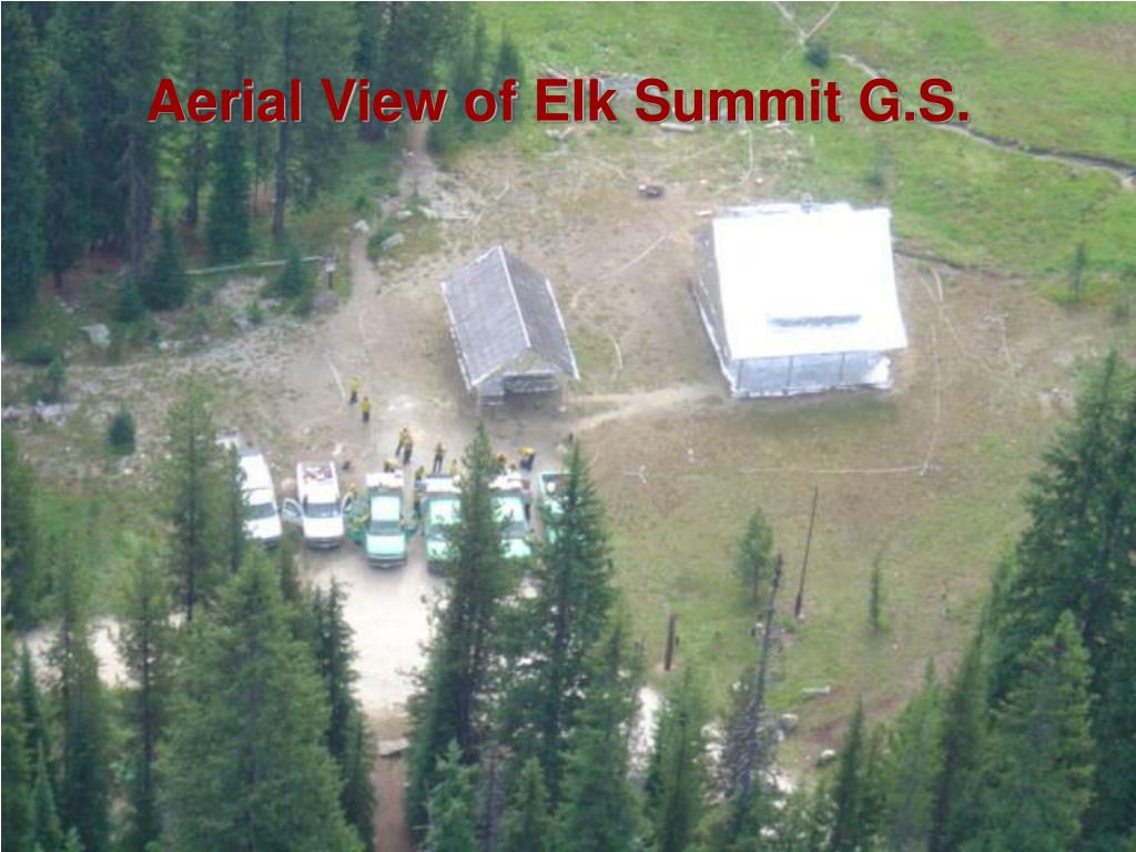 Aerial View of Elk Summit G.S.