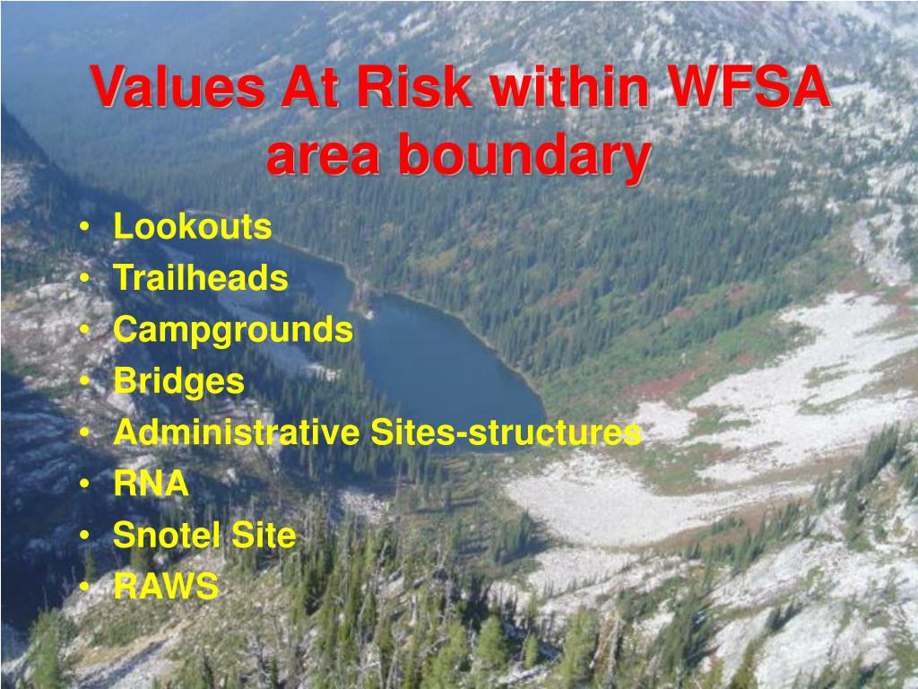 Values At Risk within WFSA area boundary