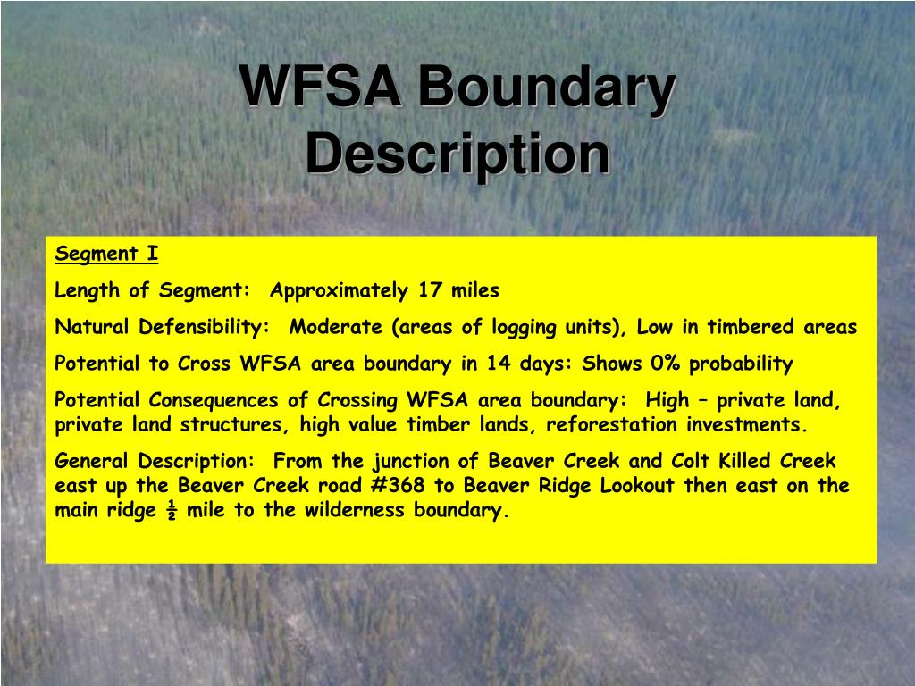 WFSA Boundary Description