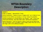 wfsa boundary description