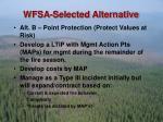 wfsa selected alternative