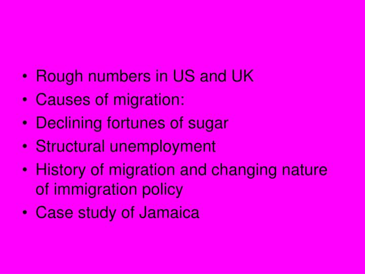 Rough numbers in US and UK