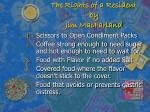 the rights of a resident by jim macfarland